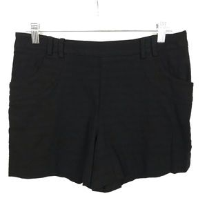 Anthropologie Elevenses Black Stretch Shorts Sz 8